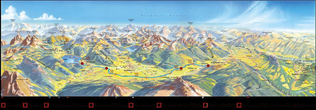 Angeln Karte Seen und Gewässer Tannheimertal