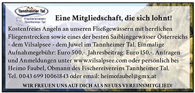 Fischereiverein Tannheimer Tal Mitgliedschaft