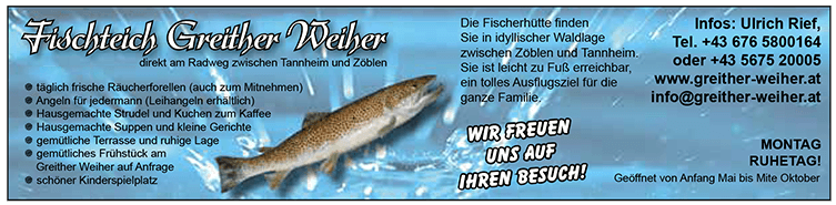 Fischteich Greither Weiher Zöbeln